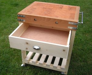 butchers-block-with-one-drawer-open