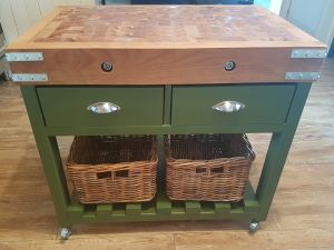 medium-butcher-block-painted-green-with-2-baskets-and-cup-handled-drawers