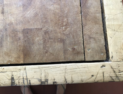 butchers block restoration before
